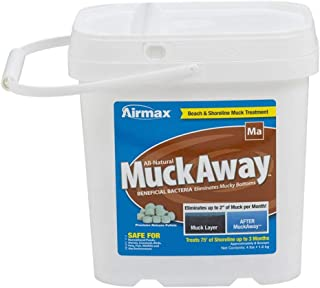 "Airmax MuckAway Natural Pond Muck Reducer, Removes Up to 2"" of Muck Per Month Target Beaches & Shorelines, 8 Scoops"