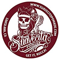 【SUAVECITO POMADE】 スアベシート ポマード 【Suavecita B & W Top Logo Burgundy Stickers】 ステッカー