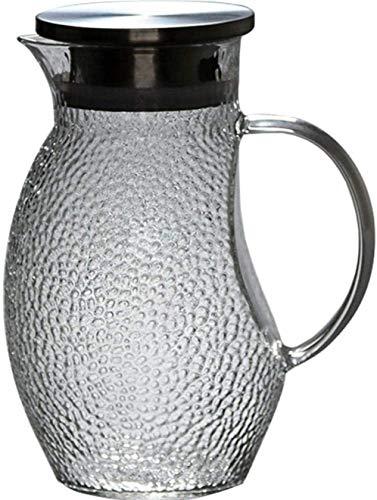 YUKM Hervidor Cristal hervidor hervidor, Botella Agua Vidrio Jarra Agua con Tapa Borosilicato y Acero Inoxidable Tarjeta Vidrio Tarjeta de Vidrio Botella de Agua de Cristal 1000ml Taza de té