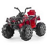 Babycar Quad Outlander 12 Volt ( Rosso ) Nuova Versione ATV Quad per Bambini 12 Volt Batteria con Telecomando 2.4 GHz con MP3 e Ammortizzatori