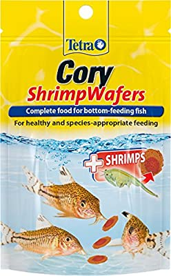 Tetra Cory Shrimp Wafers Fish Food, Complete Fish Food for Bottom-Feeding Fish, 42 g