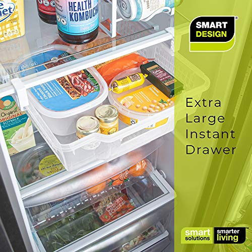 PRO-MART SMART DESIGN Refrigerator Pull Out Bin and Home Organizer, Extra Large