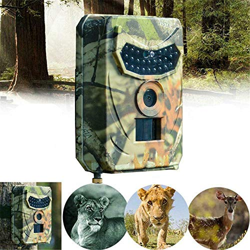 ZGHYBD Outdoor Hunting Camera 12MP Wild Animal Detector Trail Camera Night Vision ,IP56 Waterproof 1080P Night Vision IR Camera for Outdoor Wildlife, Garden, Animal Scouting(32G Memory Card Included)