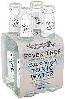 Fever-Tree Naturally Light Tonic Water - 4 x 200ml (27.05fl oz)