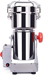 300g Electric Grain Mill Spice Herb Grinder Pulverizer super fine powder machine For Spice herbs grains coffee rice corn sesame soybean fish feed pepper Food Grade Stainless Steel