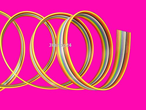 FLACHBANDKABEL 14-Adrig/Polig/Pin   Meterware (EUR 3,77/m)   FLACHBANDLEITUNG-AWG28 im 1,27mm-Raster (Pitch)   Farbige FBL/Rasterstegleitung mit IEC-Ader-Farbfolge Flache,flexible,Band-Leitung/Kabel