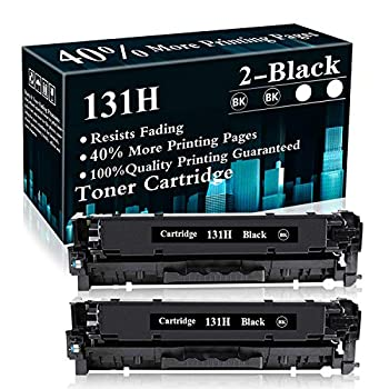 2 Black Cartridge 131H Remanufactured Toner Replacement for Canon Color MF8280Cw MF8230Cn MF620C MF621Cn MF624Cw MF628Cw MF623Cn MF626Cn LBP7110Cw LBP5050 MF8280Cw MF8230Cn Printer