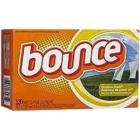 Sábanas suavizantes de tela Bounce 003700080071, 120 ea, 1