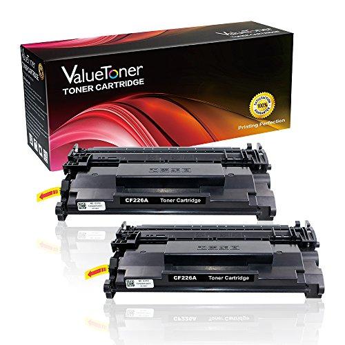 ValueToner Compatible Toner Cartridge Replacement for Hewlett Packard HP 26A CF226A(2 Black) for HP Laserjet Pro MFP M402dn,MFP M402n,MFP M402dw, MFP M426fdw,MFP M426fdn Laser Printer