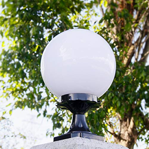 Lámparas de columna Luz de pedestal para exteriores pilar de bola redonda...