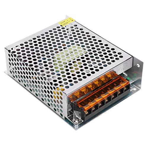 Adaptador de Controlador de Fuente de Alimentación de Interruptor, Controlador de Barra de Luz de Pantalla LED de Aleación de Aluminio DC12V(S-100-12(12V/8.5A/100W)AC100-240V)
