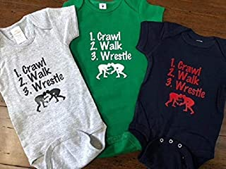 crawl walk wrestle baby bodysuit wrestling infant one piece