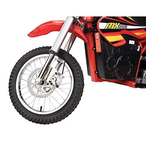 Razor MX500 Dirt Rocket Adult & Teen Ride On High-Torque Electric Motocross Motorcycle Dirt Bike, Speeds up to 15 MPH, Ages 14 and Up, Red