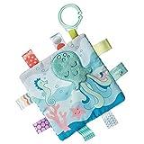 Taggies Crinkle Me Toy with Baby Paper & Squeaker, 6.5 X 6.5', Sleepy Seas Octopus