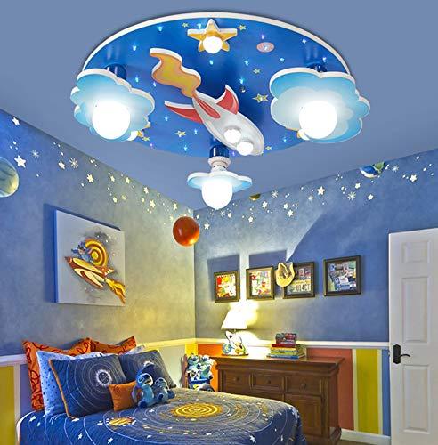 Lámpara De Techo LED Para Habitación Niños LuzDeTechoLED Universe Star Colgante Acrílico E27 Bombilla Luces Colgantes Niños Y Niñas Dormitorio Sala Estar Iluminación Dibujos Animados Decorativa