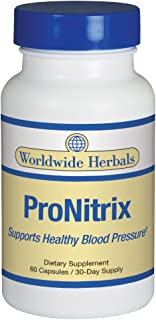 Worldwide Herbals | ProNitrix | Supports Healthy Blood Pressure | Promotes Circulation & Male Enhancement | All Natural Dietary Supplement | 30 Day Supply