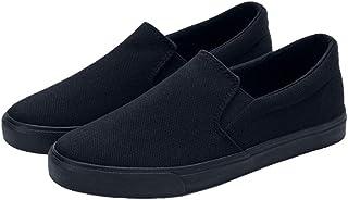 Holibanna Chaussures Homme Chaussures de Toile Simples Mocassins de Travail Décontractés à Enfiler Chaussures de Marche (N...