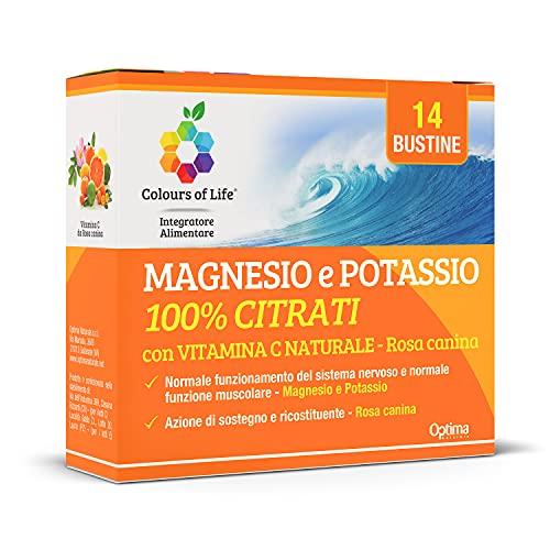 Colours Of Life Colours of Life MAGNESIO e POTASSIO 100% CITRATI con VITAMINA C NATURALE - 14 bustine