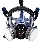 Babimax Maschera antigas faccia completo Respiratore carbone attivo sicurezza per biologic...