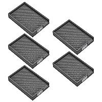 uxcell ネジトレー ネジホルダー 防静止 硬プラスチック製 1.0mm-1.5mm ブラック 5個入