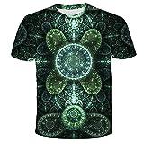 Unisex Camiseta Camisa Casual De Manga Corta De Verano para Hombres Y Mujeres con Impresión Digital En 3D Superior-S
