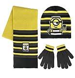 Cerd 2200002552 Set de bufanda, gorro y guantes, Multicolor (Amarillo 001), One Size (Tamao del fabricante:nica) para Nios