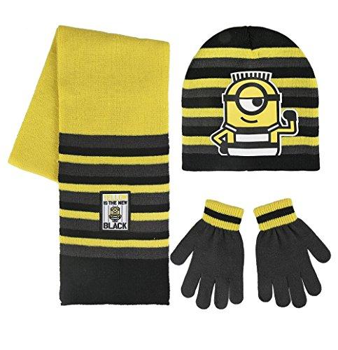 Cerdá 2200002552 Minions Mütze, Schal & Handschuh-Set, Mehrfarbig (Amarillo 001), One Size (Herstellergröße: Única)