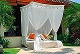 Schöner Betthimmel für Einzelbetten. Moskitonetz Mokito Big Sky 100. Klassischer Baldachin und Mückenschutz. Perfekter Mücken- und Insektenschutz.