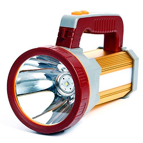 Ambertech Multi-Function torcia ricaricabile a Led (può essere usato come una banca Power) ad alta potenza torcia luminosa eccellente Searchlight Lanterna Spotlight