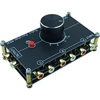 SOLUPEAK 3 in 1 Out RCA Stereo Audio Source switcher Switch Signal selector Splitter schalter Connector Distributor Box