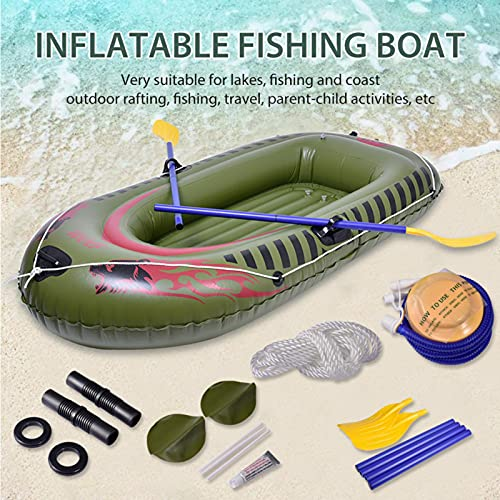 2 Person Inflatable Boat Canoe 【Red+Green】 5.9FT Raft Inflatable Kayak With Air Pump Rope Paddle,2or 3 Person Boat For Adults And Kids, Portable Fishing Boat,Water Sports Equipment, Max Load 440 Lbs