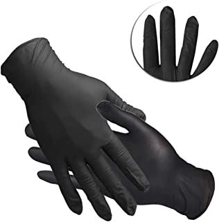 Nitrile Disposable Gloves, Nitrile Gloves, Powder Free, Food Grade Gloves, 60 Pcs, S Size, Black