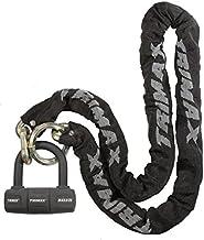 Trimax THEX5060 Combo Set - THEX Super Chain 5' x 11mm + MAX60 Disc U-Lock