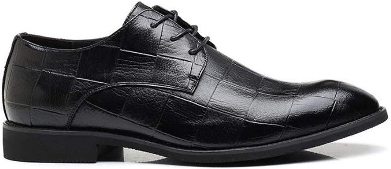 2018 Herren Lederschuhe, Frühling Herbst Spitz Schuhe, Lace Lace Lace up Formale Business Schuhe, Koreanische Version der Atmungsaktive Schuhe, Plaid Schuhe (Farbe   B, Größe   38) ( Farbe   C , Größe   39 )  42e994
