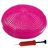 Explopur Yoga Balance Disc 33CM - Pompa a Mano Libera con Cuscino Gonfiabile per stabilit�...