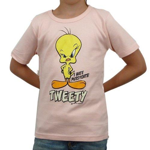 Logoshirt - Looney Tunes Tweety Kinder T-Shirt, pastel pink, Größe:140/152
