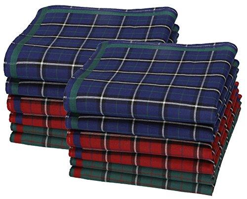 Betz 12 Stück Damen Stoff Taschentücher Paloma III Größe 30x30 cm 100% Baumwolle Farbe Dessin 9