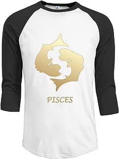 J-OOP Twelve Constellations PISCES Men's Half Sleeve T-shirts