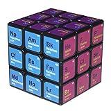 Hinder Tabla periódica de elementos, cubo de 3er orden, diseño colorido tabla periódica de cubo mágico, regalo para amantes de la química científica, fórmula de aprendizaje para aprendizaje divertido