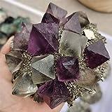 ZZLLFF 1 unids RARA pirita fluorita poliedro Matriz de espectáculos minerales fengshui Piedra artesanía decoración del hogar