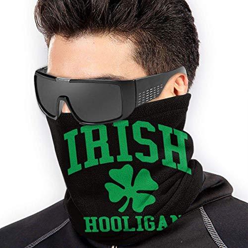 XXWKer Calentador de Cuello Deporte Calentador Pasamontañas Polar Máscara Irish Hooligan Micro Fiber Seamless Windproof Bandana & Face Mask & Neck Warmer Gaiter Shield - for Mens Womens