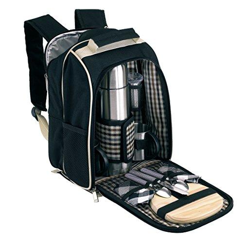 Unbekannt Picknick Rucksack 2 Person Picknicktasche mit Kühlfach Kühlrucksack mit Zubehör Kühltasche ohne Picknickdecke
