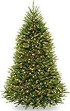 National Tree Company Pre-lit Artificial Christmas Tree | Includes Pre-strung White Lights, PowerConnect and Stand | Dunhill Fir - 7.5 ft