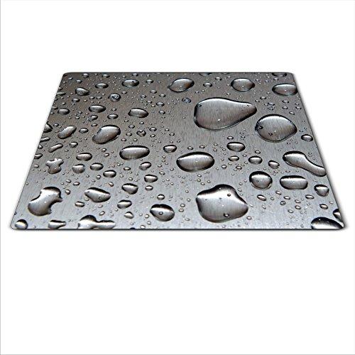 Cache-plaque en verre pour cuisinière vitrocéramique ou à induction – 59 x 52 cm – Motif gouttes