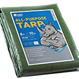 GUARD SHIELD Heavy Duty Tarp 8x10 Feet Green Multi Purpose Thick Waterproof Poly Tarp Cover 10mil