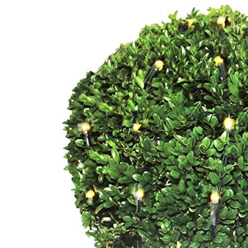 Lichternetz für den Buchsbaum Ø120cm 1,2m 144 LEDs warmweißes Lichterkette für Innen und Außen Dekoration Beleuchtung Weihnachten