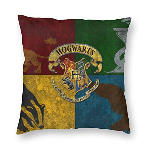 SunnyWarm Harry Potter - Funda de almohada de microfibra para sofá, jardín, cama, sofá, 45 x 45 cm