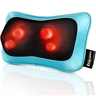 Shiatsu Neck Back Massager Pillow with Heat, Deep Tissue Kneading Massage for Back, Neck, Shoulder, Leg, Foot, Gift for Men Women Mom Dad, Stress Relax at Home Office and Car by Mo Cuishle