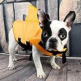XuBa Gilet de sauvetage en forme d'aileron de requin pour grands chiens de petite taille - Orange - Taille M