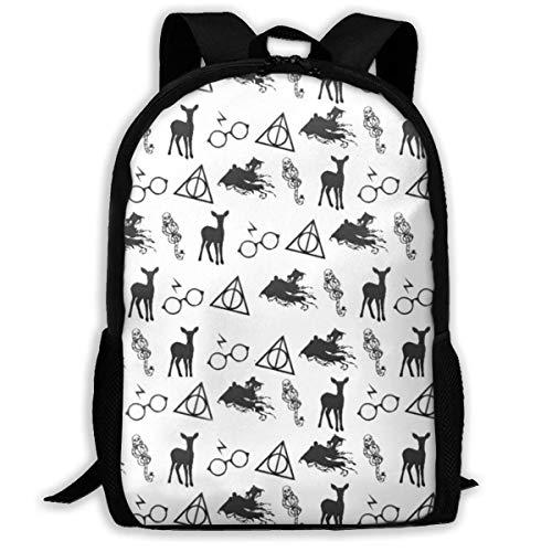 XCNGG Deer Large Capacity Travel Computer Backpack, Adult Printed Backpack, Anti Splash Student School Backpack